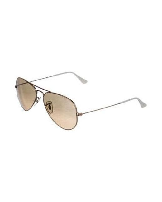 1ebef1ffe72 ... Ray-Ban - Metallic Large Metal Aviator Sunglasses Gold for Men - Lyst  ...