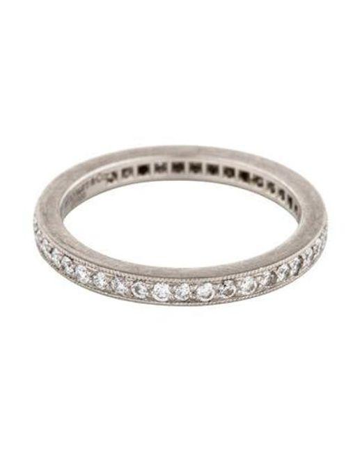 23a676016 Lyst - Tiffany & Co Platinum Diamond Legacy Ring in Metallic