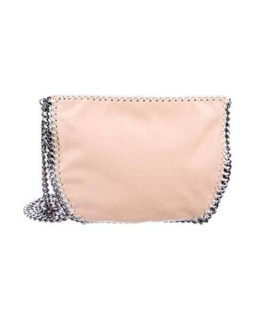 9b45d8354c44 Stella McCartney - Metallic Shaggy Deer Falabella Crossbody Bag Pink - Lyst  ...