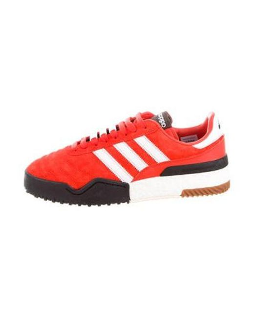 new products 48ece c2229 Alexander Wang - Multicolor Adidas Suede Low-top Sneakers Orange - Lyst ...