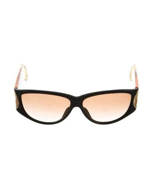 209bace5379 Dior - Metallic Gradient Rectangular Sunglasses Black - Lyst ...