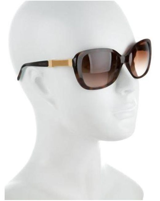 09964abf41b6 ... Tiffany   Co - Natural Embellished Rectangular Sunglasses Brown - Lyst
