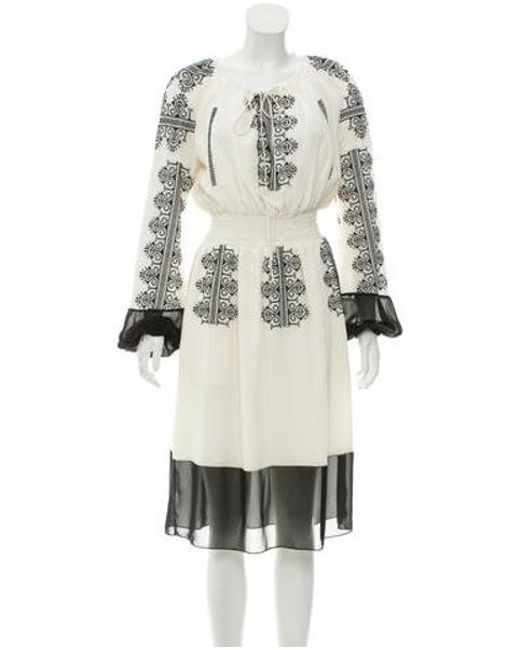 b9700d1baba6 Altuzarra - Black Long Sleeve Silk Dress - Lyst ...