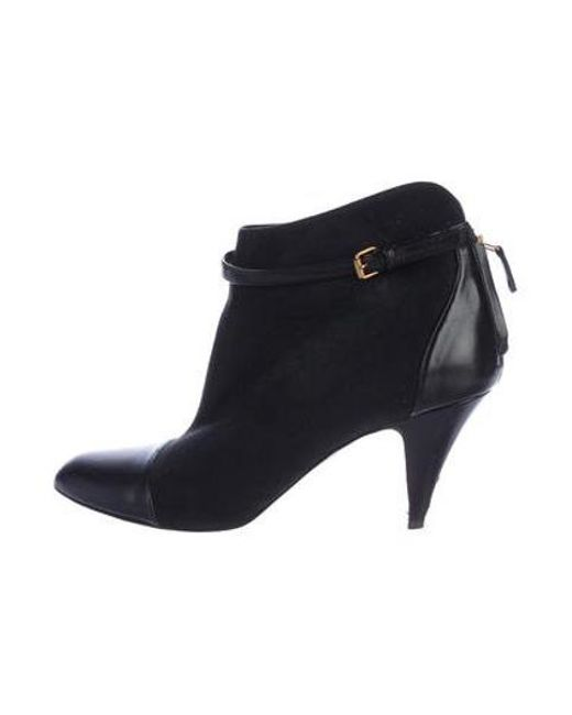 58d5cbc9da87 Stella McCartney - Black Pointed-toe Ankle Boots - Lyst ...