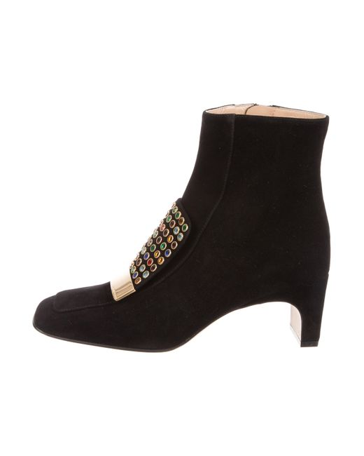 Cheapest online Sergio Rossi Embellished Square-Toe Ankle Boots w/ Tags buy cheap comfortable cheap sale get authentic free shipping good selling zDGx80