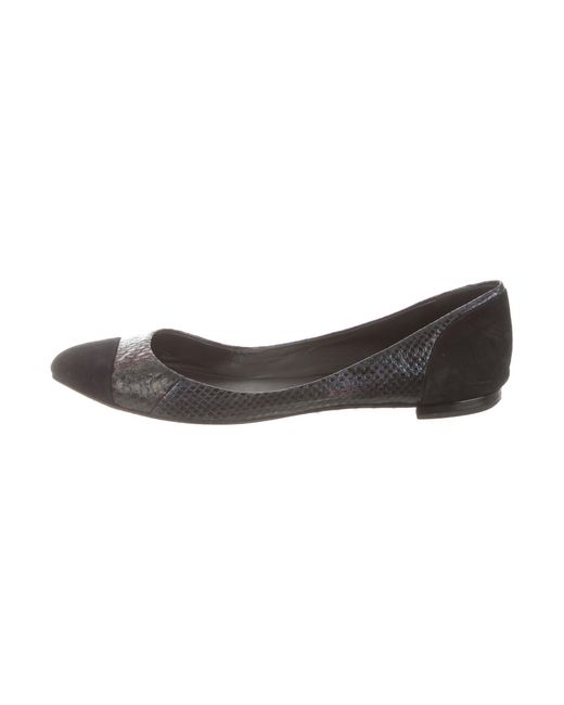 B Brian Atwood Textured Cap Toe Flats clearance cheap footlocker pictures clearance new Qk894Gd