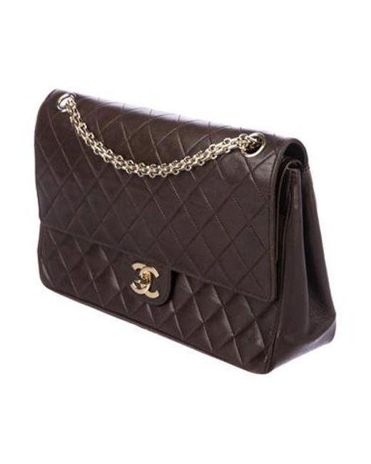 f6bff1fd3eaa ... Chanel - Metallic Vintage Medium Double Flap Bag Gold - Lyst ...