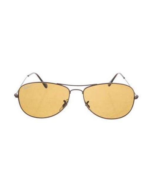 bcc7b22922 Ray-Ban - Brown Cockpit Aviator Sunglasses for Men - Lyst ...
