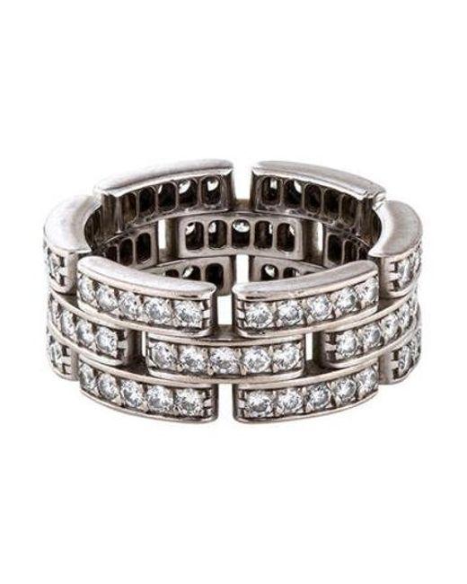Cartier - Metallic Diamond Maillon Panthère Ring White - Lyst