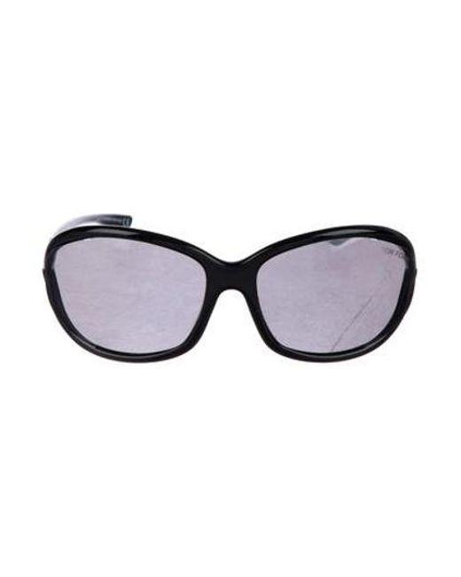 0853221652 Tom Ford - Metallic Jennifer Tinted Sunglasses Black - Lyst ...