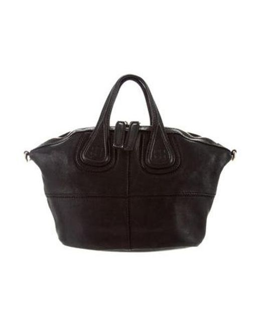 7237ccf57796 Givenchy - Black Leather Nightingale Satchel - Lyst ...