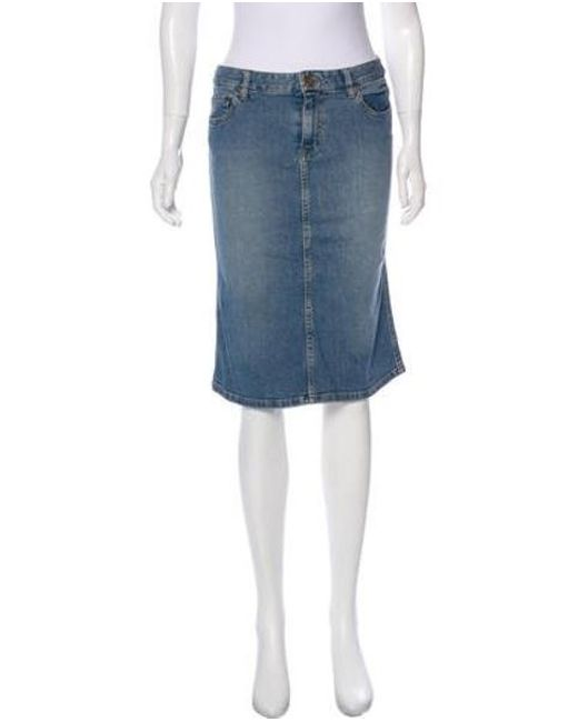 a9d3b57185 Marc Jacobs – Blue Knee-length Jean Skirt – Lyst …