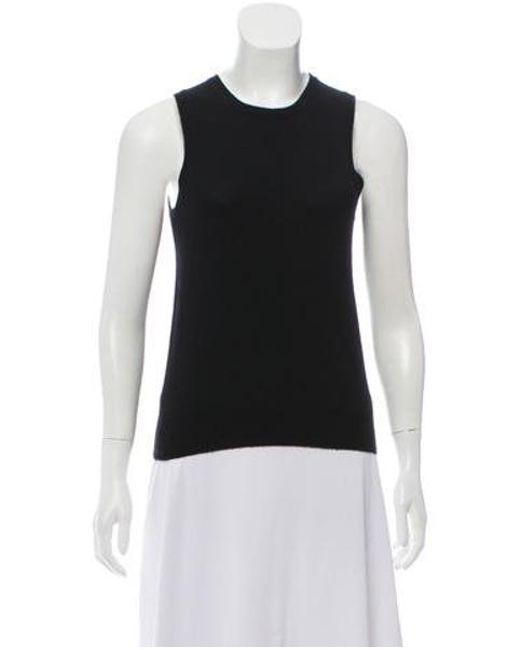 d2c08d10a7867 Michael Kors - Black Cashmere Sleeveless Sweater - Lyst ...