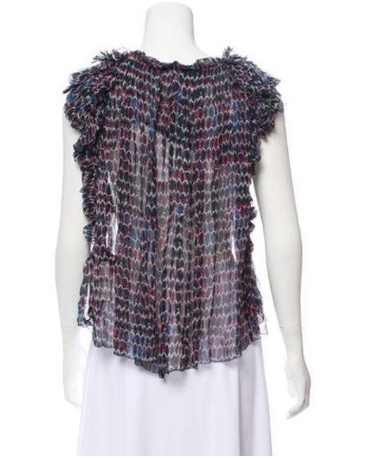 cdd106adde281 ... Isabel Marant - Silk Printed Top W  Tags Multicolor - Lyst