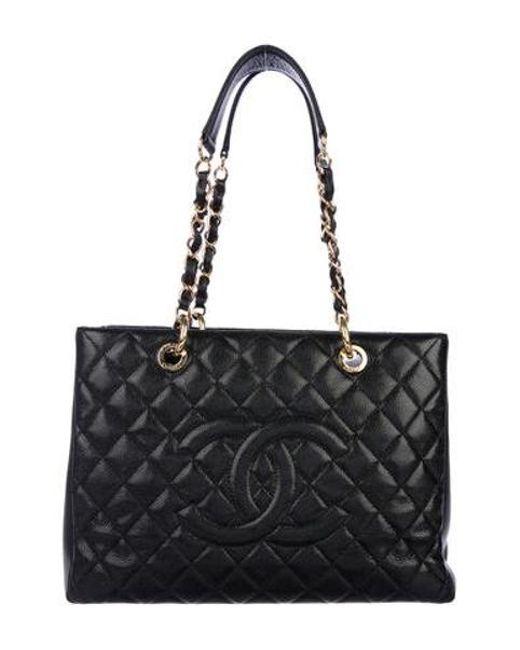 4996a3ad4f4030 Chanel - Metallic Caviar Grand Shopping Tote Black - Lyst ...