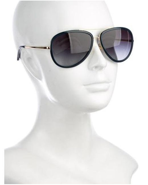 8228efcc90 ... Tory Burch - Metallic Gradient Aviator Sunglasses Gold - Lyst