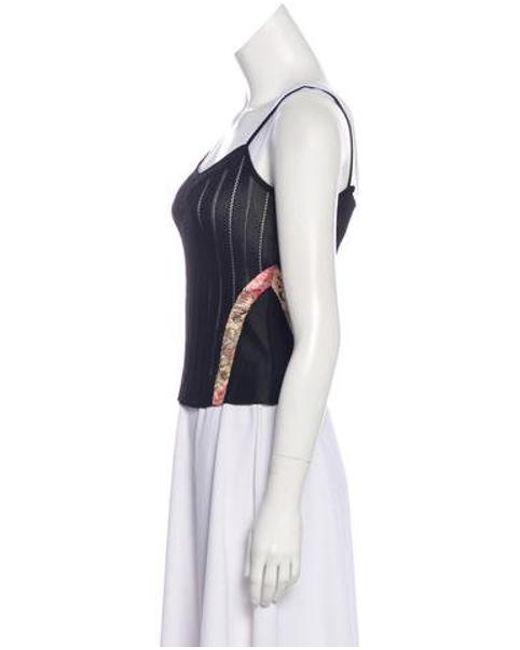 56d033f5be ... Christian Lacroix - Black Knit Sleeveless Top - Lyst ...