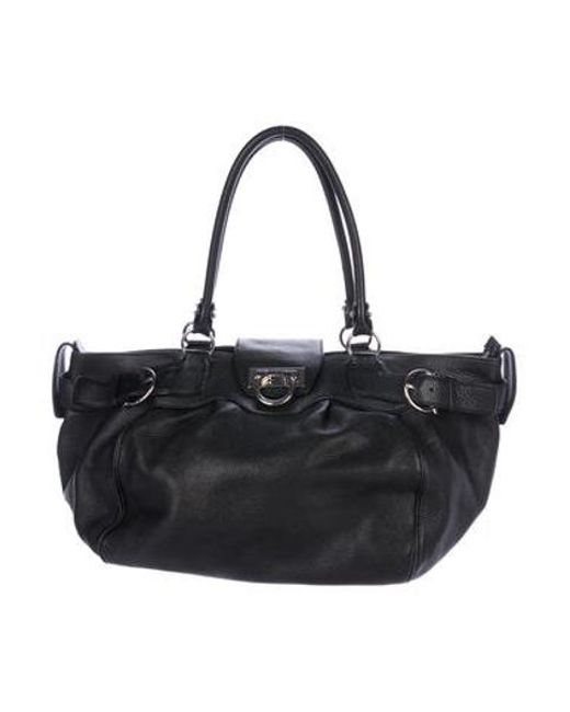 e7c2d851fd5 Ferragamo - Metallic Large Marisa Bag Black - Lyst ...