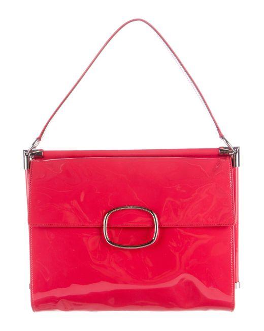 Roger Vivier | Metallic Miss Viv Medium Handle Bag Coral | Lyst