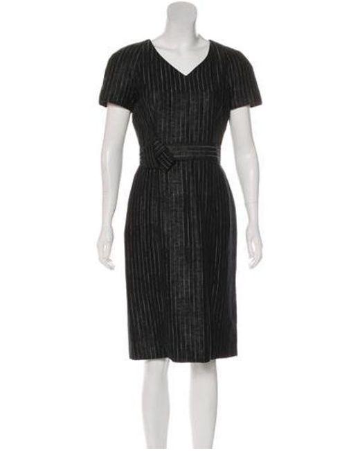 9c8a25dc black pinstripe sheath dress – Little Black Dress   Black Lace ...