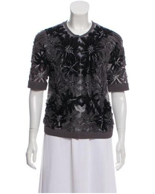 30bafc2a354c Tory Burch - Gray Casual Floral-accented Jacket Grey - Lyst ...