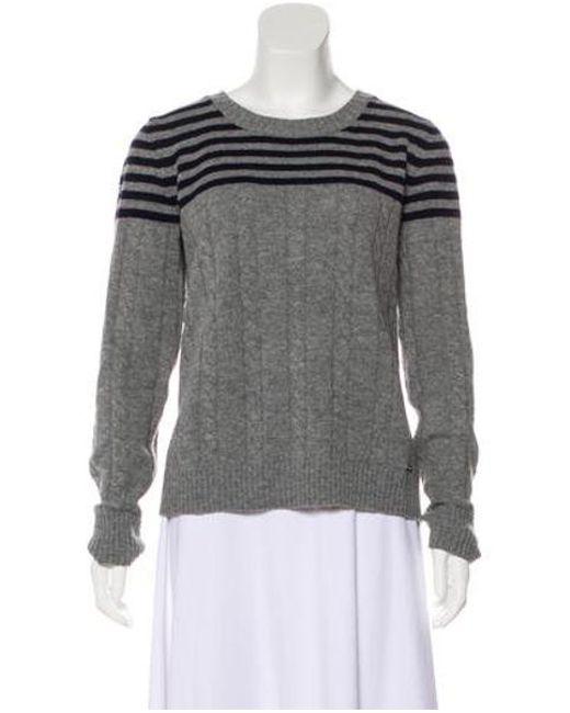 bbbe4bbe11ad Tory Burch - Gray Wool Knit Sweater Grey - Lyst ...