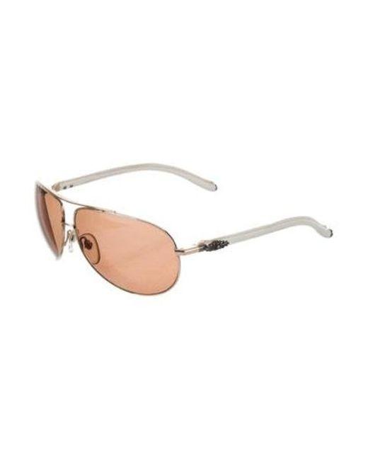 007608cf122c ... Chrome Hearts - Metallic Baby Gravy Aviator Sunglasses Gold - Lyst ...