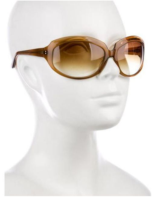 e5008b606a5b ... Oliver Peoples - Brown La Donna Oversize Sunglasses - Lyst