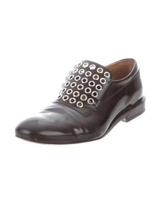 b8411ee6271 ... Jil Sander - Metallic Leather Round-toe Loafers Black - Lyst ...