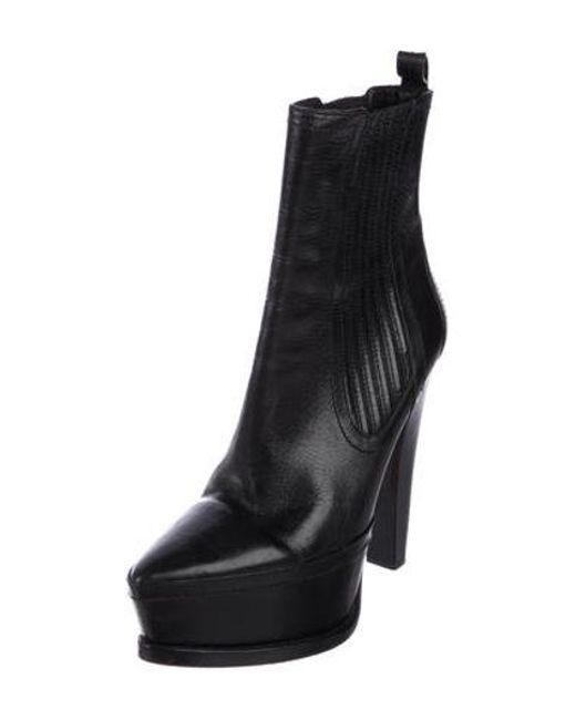 9d9d6fcec965 ... Alexander Wang - Black Platform Mid-calf Boots - Lyst ...