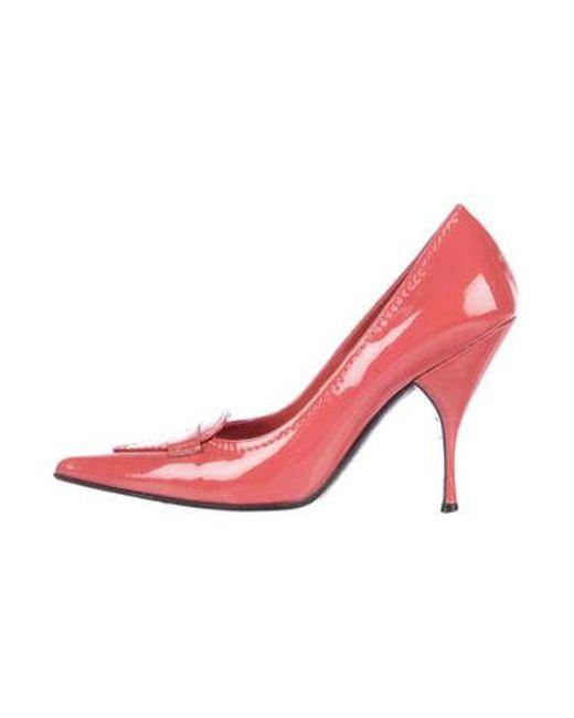 815b3e7e1e00 Miu Miu - Pink Miu Patent Leather Pointed-toe Pumps - Lyst ...