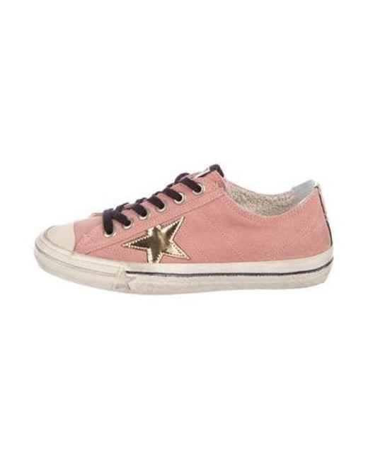 6674364adfd Golden Goose Deluxe Brand - Metallic Suede Vstar2 Sneakers Pink - Lyst ...