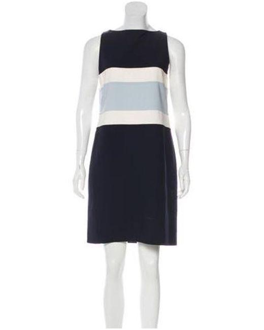 5fd4bcca0f6c Michael Kors - Blue Virgin Wool Sleeveless Dress - Lyst ...