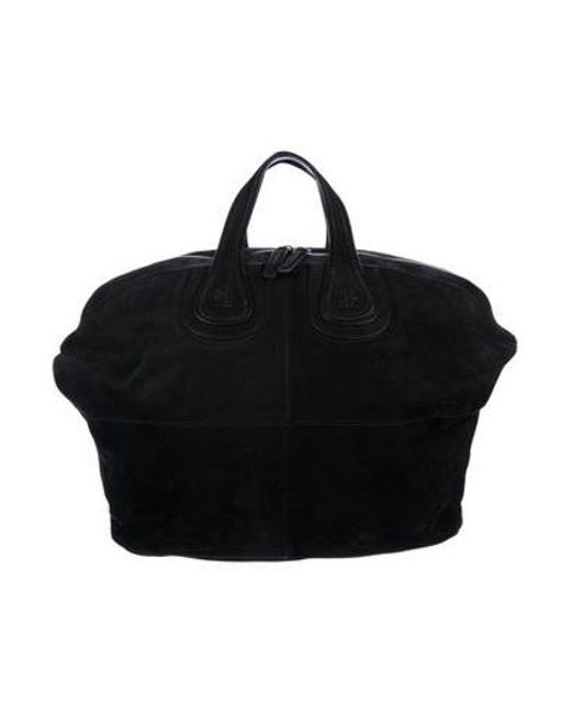 de25ce6b6260 Givenchy - Black Nubuck Nightingale Satchel - Lyst ...