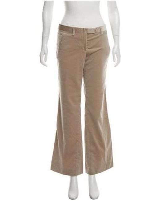 CoSTUME NATIONAL - Green Mid-rise Wide-leg Pants Olive - Lyst