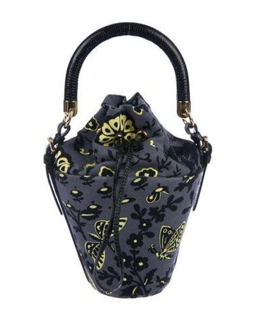 Miu Miu - Metallic Miu Canvas Bucket Bag Grey - Lyst ... babd0072f7f28