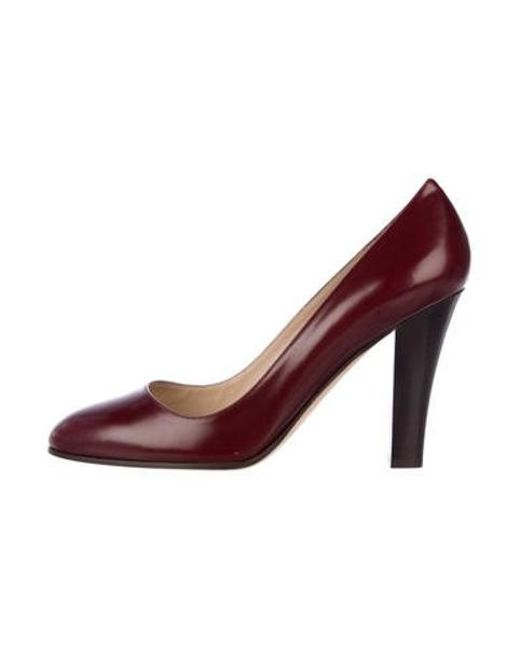 9d1d980ac72 Michael Kors - Red Leather Round-toe Pumps - Lyst ...