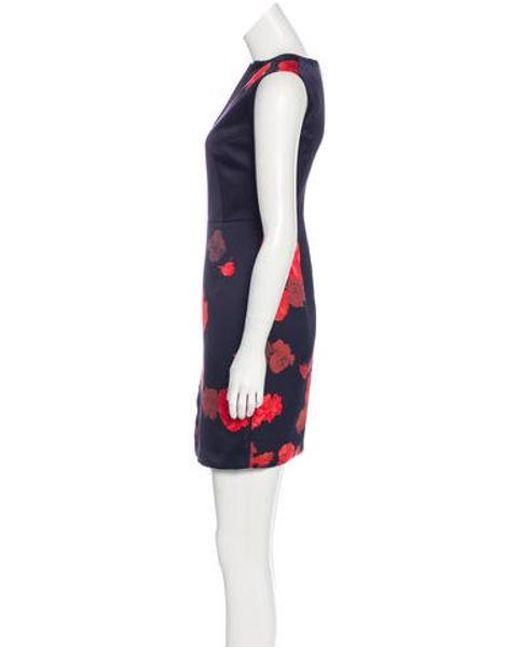 ffae30875f ... Giambattista Valli - Blue Floral Print Mini Dress - Lyst ...