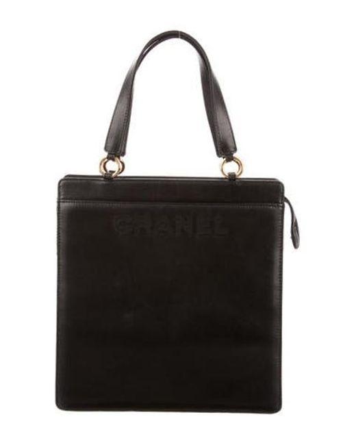 Chanel - Metallic Medium Lambskin Tote Black - Lyst
