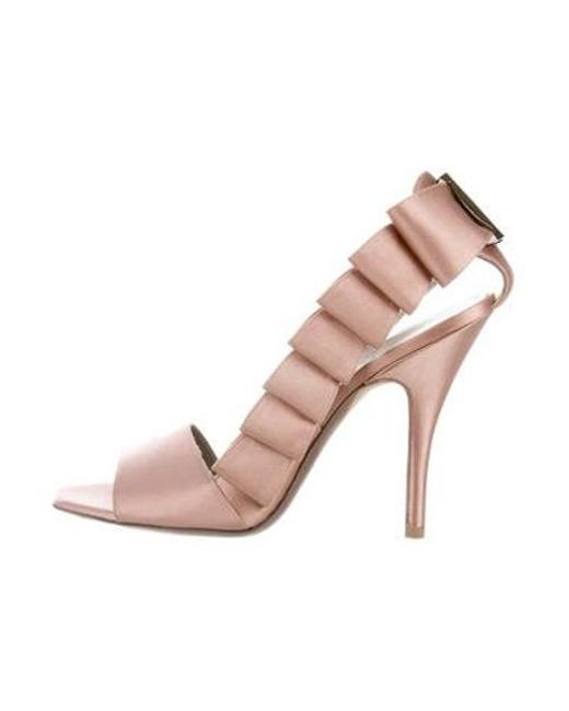 a2ba4a9d3bd Ferragamo - Pink Satin D orsay Pumps - Lyst ...