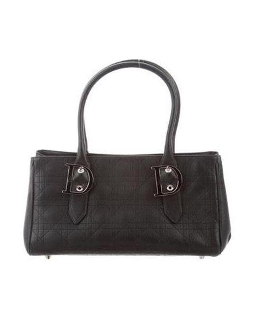 Dior - Metallic Cannage Medium Tote Black - Lyst ... bfded91c64574