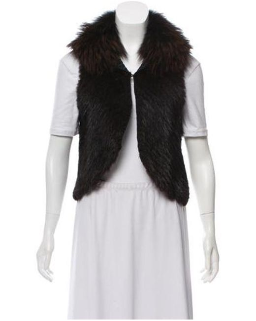 cfeeac7addd Lyst - J. Mendel Muskrat & Raccoon Fur Jacket in Brown