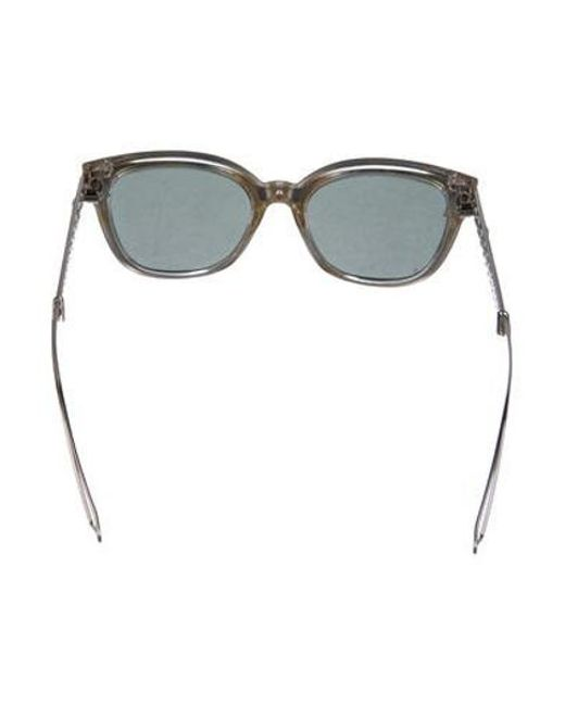 8317b68f6348b ... Dior - Metallic Dioramal Square Sunglasses Silver - Lyst