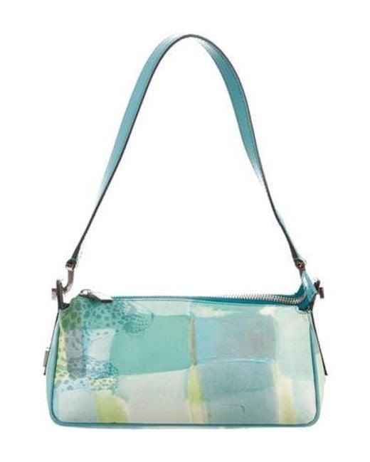 2c63957bc8 Ferragamo - Metallic Leather-trimmed Shoulder Bag Aqua - Lyst ...