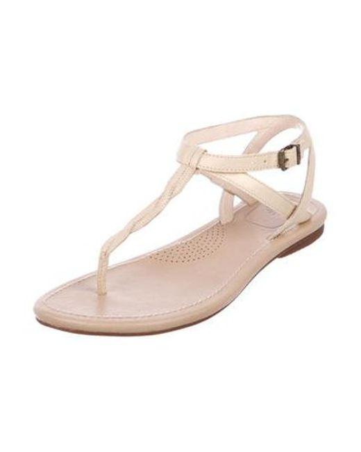 bb3fef30f4a ... Ugg - Metallic Aubray Thong Sandals - Lyst ...
