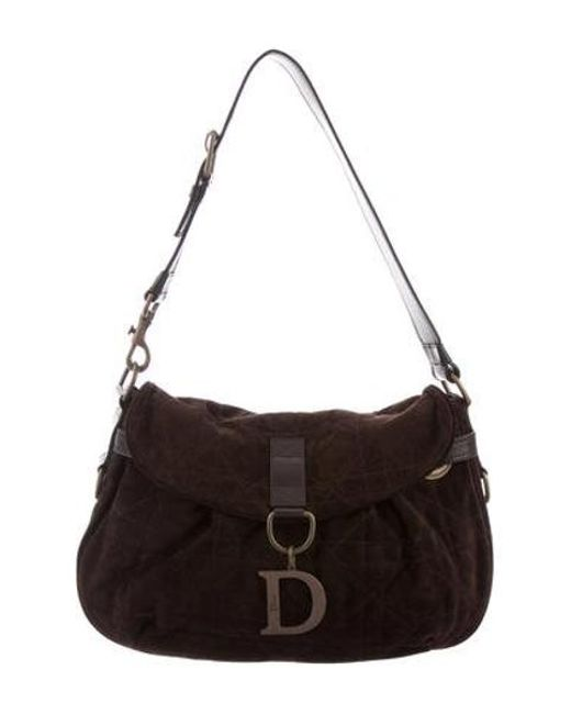 Dior - Metallic Cannage Suede Hobo Bronze - Lyst ... d5d0f0f920