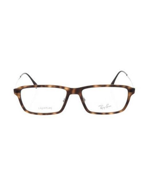 fdd51f0199 Ray-Ban - Natural Matte Square Eyeglasses Brown - Lyst ...