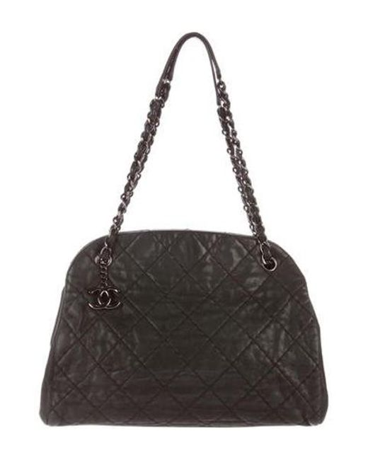 Chanel - Metallic Just Mademoiselle Large Bowler Bag - Lyst ... 40dc863755db6