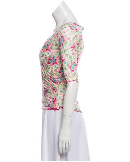 c243e58118b13 ... Diane von Furstenberg - Silk Floral Top Multicolor - Lyst ...