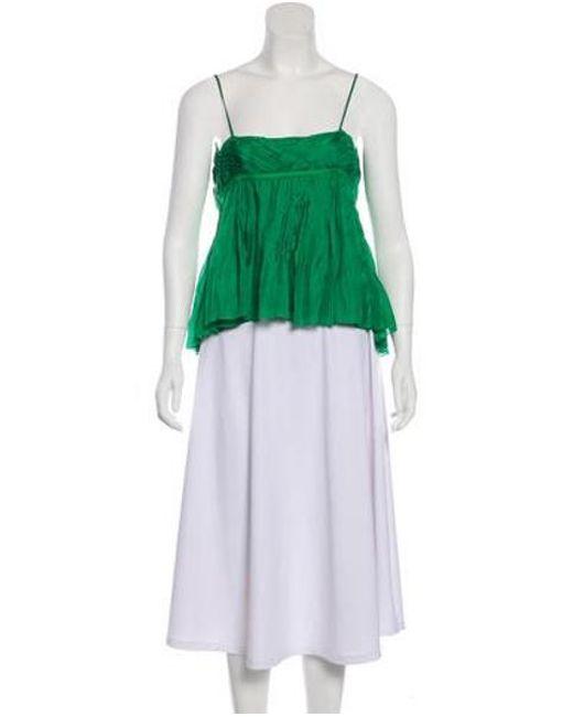 45078475021e9 Diane von Furstenberg - Natural Fontana Silk Top Green - Lyst ...